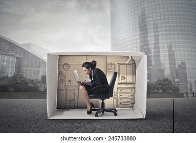 Working in a small office
