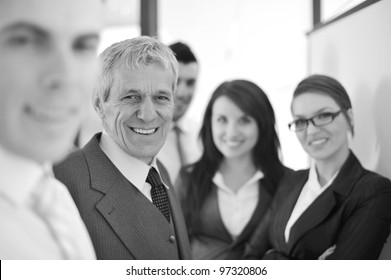 Working team in front of a whiteboard