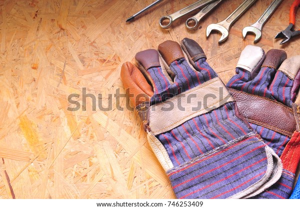 Working tool of the master on the table