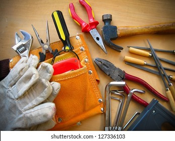 Working tools background.