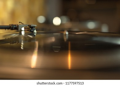 Working turntable in the studio