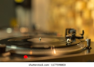 Working turntable in studio