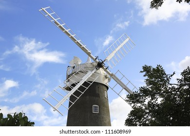 working windmill on the north norfolk coast of england