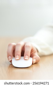 Working with a wireless mouse.