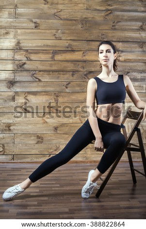 Workout Exercises Home Lose Weight Woman Stock Photo (Edit