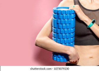 Workout and fitness concept. Woman is going to exercise