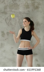 Workout, sport. Woman in gym