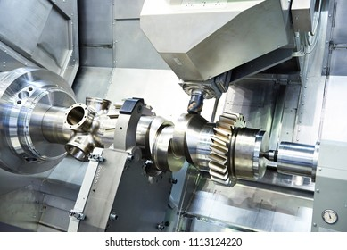 Workpiece in big CNC Lathe and Milling Machine