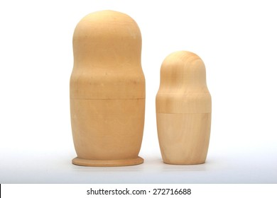 Workpiece nesting dolls for painting.On a white background