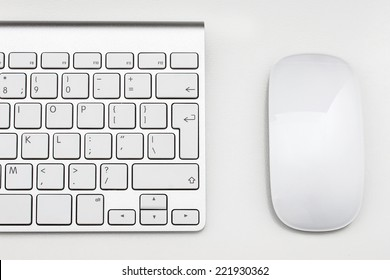 Workplace with keyboard and mouse
