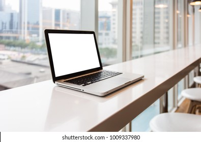 A workplace with notebook laptop