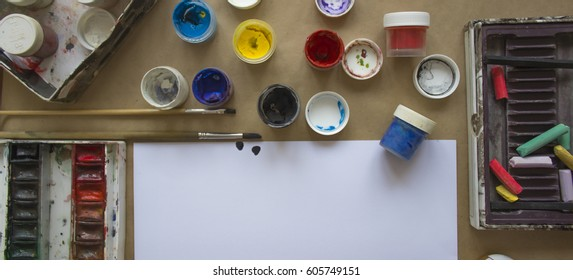 Workshop artist top view