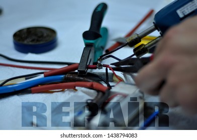 workshop soldering and maintenance and repair work electrical appliances