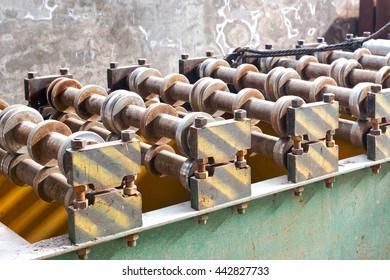 Workshop,Large steel processing plant