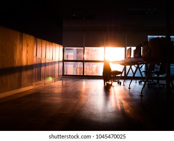 workstation near a window with light from the sun in the morning