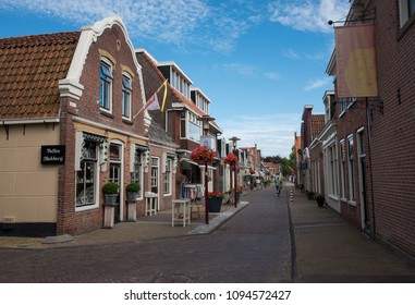 WORKUM - JULY 20: view of old village of Workum on 20 July, 2017 in Workum, The Netherlands. Workum is one of the most important tourist destinations in the province of Friesland.