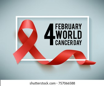 World aids and cancer day symbol