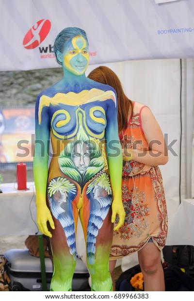World Bodypainting Festival 2017 Klagenfurt Austria People Stock Image 689966383