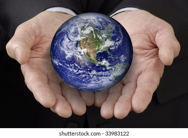 World in the Business Man's Hands