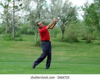 world champion on golf Seve Ballesteros