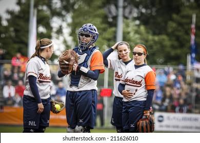 World Championship Softball in Haarlem, August 17 2014, The Netherlands