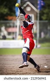 The World Championship Softball, Haarlem, NL, Pictures taken on Thursday August 23, 2014