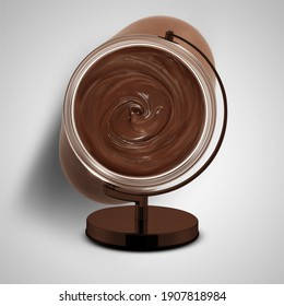 world chocolate day, chocolate day, chocolate, World Nutella Day, February 5, NUTELLA, Nutella Day, creative idea for healthy kids breakfast, dessert or holiday meal for Valentine's, top view flat