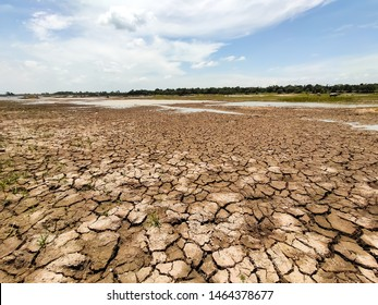 World climate of global warming.  cracked ground, rainless in countryside