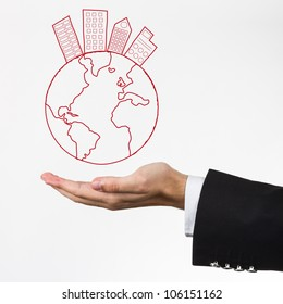 World concept in your hand.