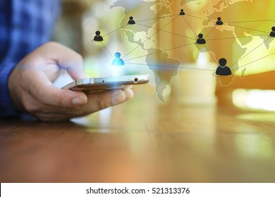 World connected.Social network concept.