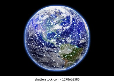 World of connectivity - Elements of this image furnished by NASA