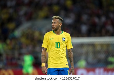 World Cup 2018 game Brazil-Serbia. Spartak Stadium, Moscow. 27th July 2018. Brazil's player Neymar Jr.