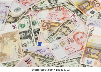 World currencies background (seamless).