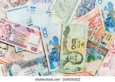 world currencies concept