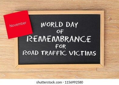 World Day of Remembrance for Road Traffic Victims in november