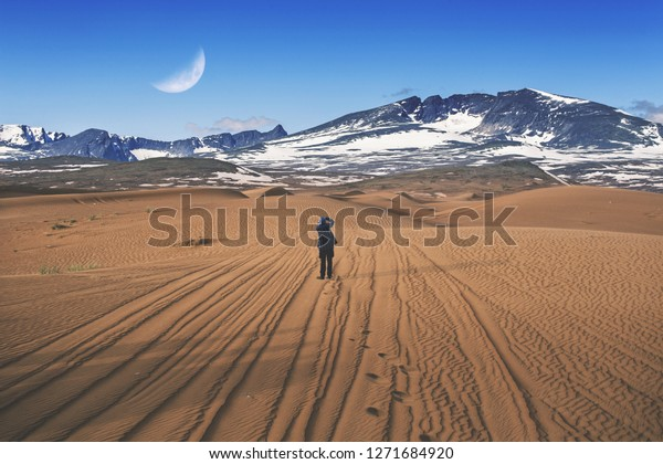 world desert to snow