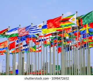 World Each Nation National flags