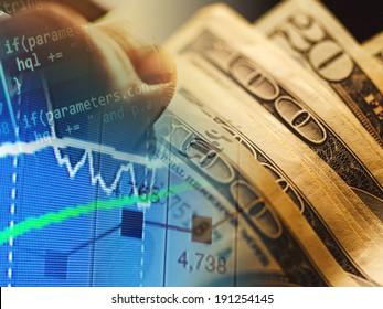 World economics graph. Finance concept.