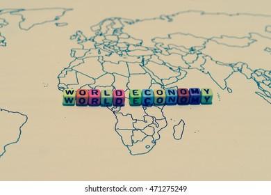 WORLD ECONOMY on world map