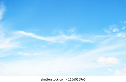 World Environment Day concept :Abstract white cloud and blue sky