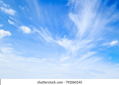 World environment day concept: Abstract white cloudy and blue sky in sunny day texture background