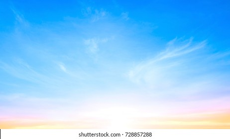World environment day concept: Early morning sky and white clouds background
