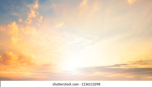 World Environment Day concept:  Orange And Yellow Colors Sunset