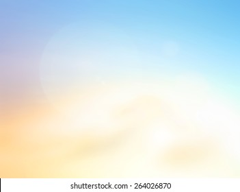 World environment day concept: Sun light with abstract blurred beautiful nature background