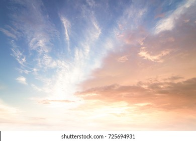 World environment day concept: Sun light and morning sky sunset perspective background