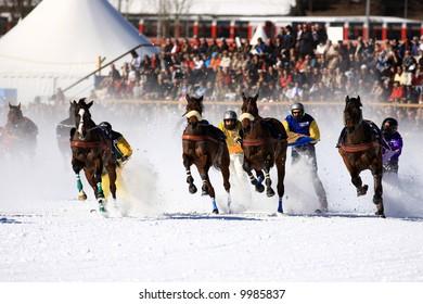 World exclusive skikj?ring in St. Moritz, Switzerland