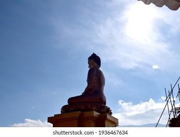 World Famous Buddha statu in Butan