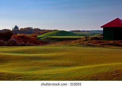 World famous carnoustie golf course