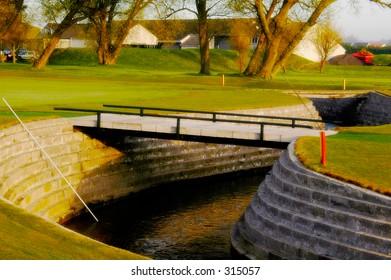 World famous carnoustie golf course- burn