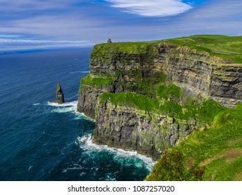 World famous Cliffs of Moher at the Atlantic coast of Ireland